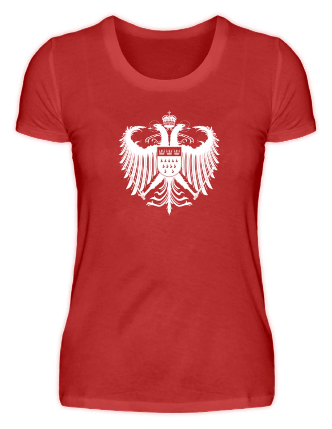 abf6b2def55096 Kölner Wappen mit Adler in Weiß auf Damen T-Shirt - Basic • Kölner ...