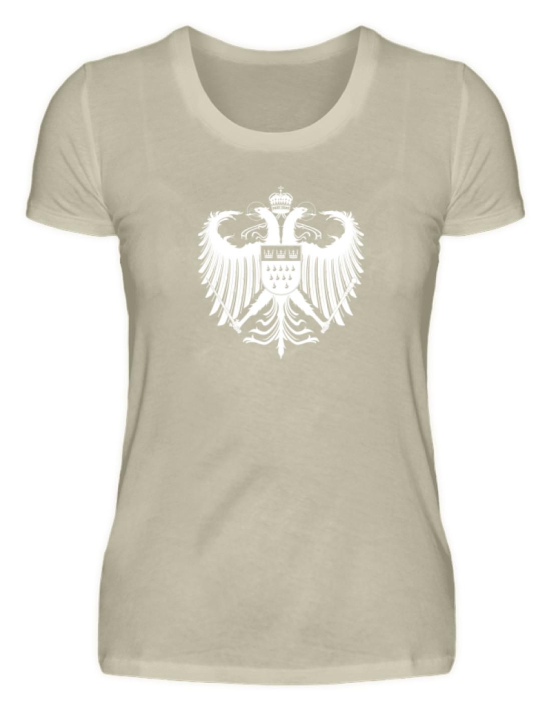 1a2a76eefbc2dd Kölner Wappen mit Adler in Weiß auf Damen T-Shirt (Organic) • Kölner ...