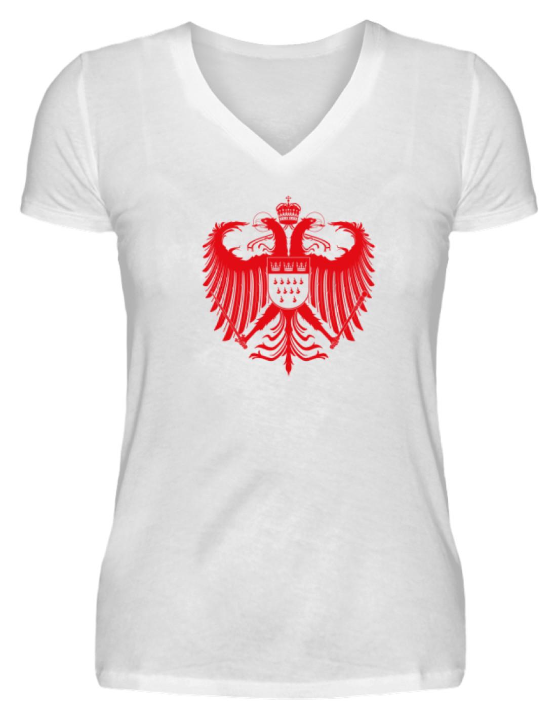 f3341058254376 Kölner Wappen mit Adler in Rot auf weißem Damen T-Shirt - V ...