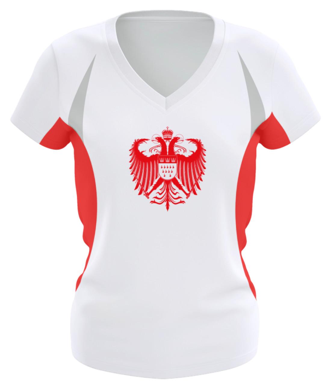 a0126d57d5401f Kölner Wappen mit Adler in Rot auf Damen Sport-   Laufshirt • Kölner ...