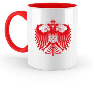 Rot-weiße Tassen
