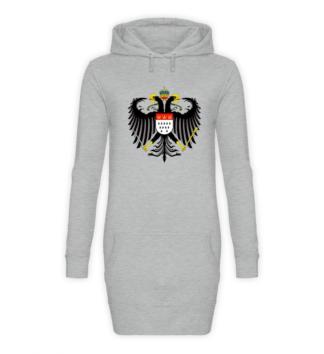 Kölner Wappen mit Adler auf Hoodie - Front - Sport-Grau-Meliert (Heather-Grey)